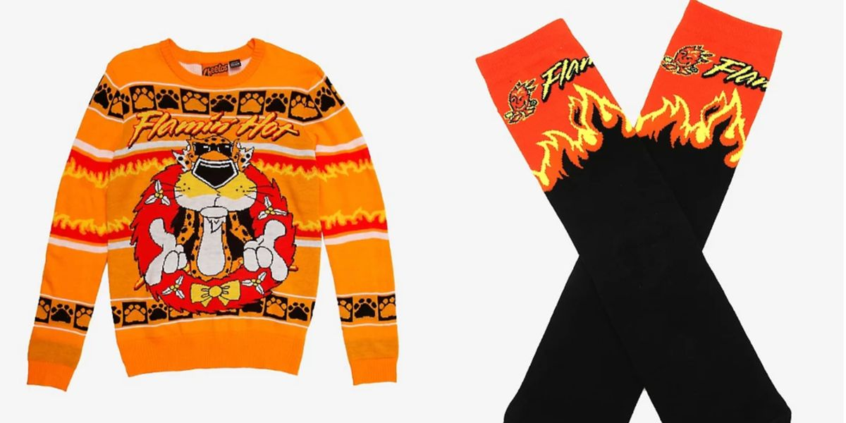 You Can Buy A Flamin' Hot Cheetos Ugly Holiday Sweater That's Fit To Wear For Your Christmas Card