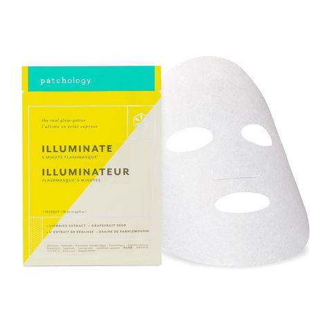 patchology flashmasque® illuminate 5 minute sheet masker