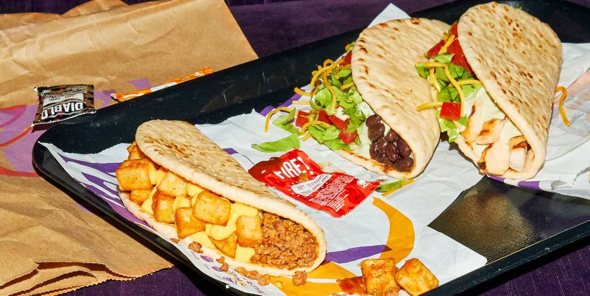 Taco Bell Has New Flatbread Tacos For $1 That Go Great With A Baja Blast