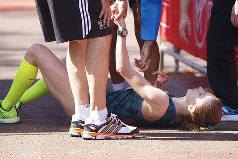 hardlopen met warm weer kan flauwvallen veroorzaken