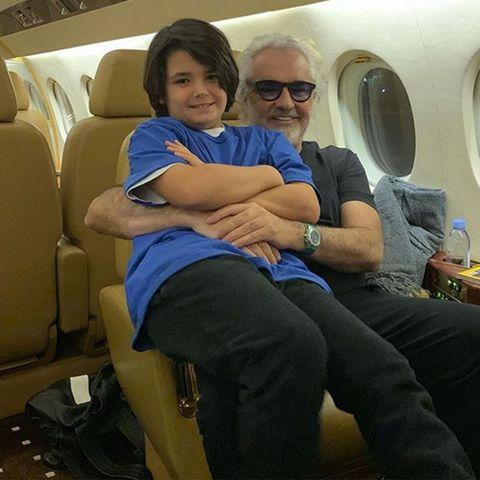 Flavio Briatore no quiere quesu hijo Falco Nathan, de ocho años,vaya a la universidad.