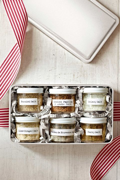 Flavored Salt DIY Christmas Basket