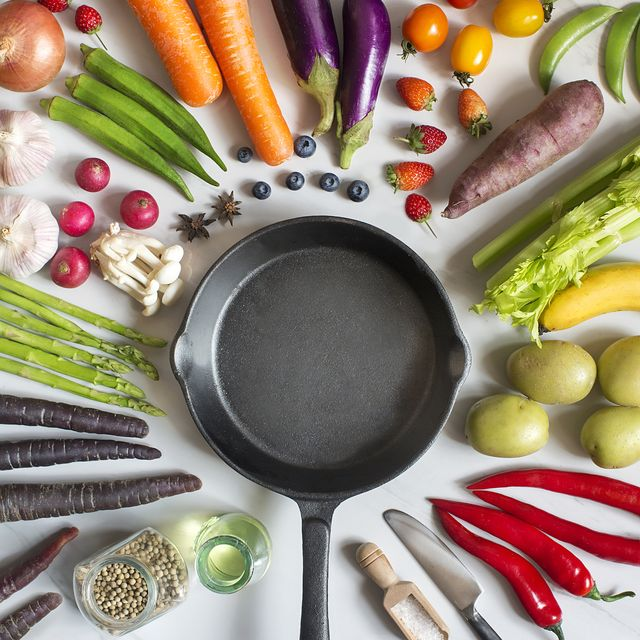 flay lay fresh uncooked vegan food still life