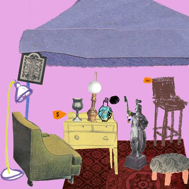 illustration for antique flea market