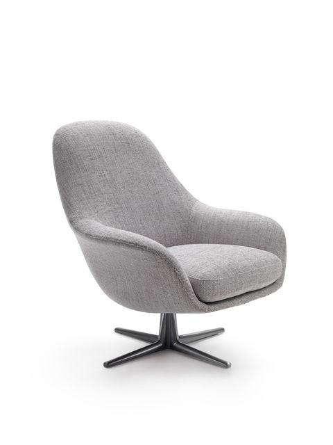 flexform sveva soft swivel armchair