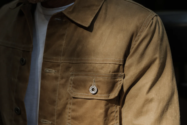 flint and tinder flannellined waxed trucker jacket