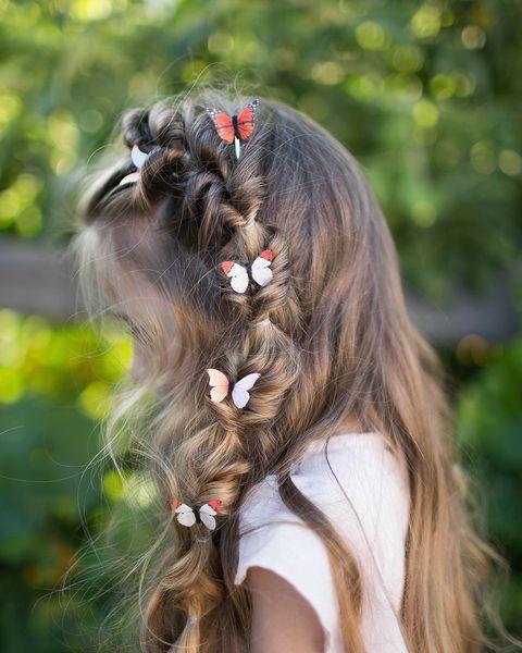 flip faux fishtail easy kids hairstyles