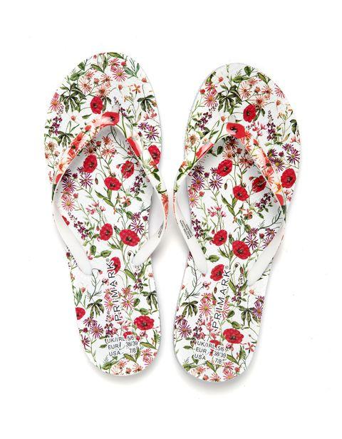 flip flops de flores de primark