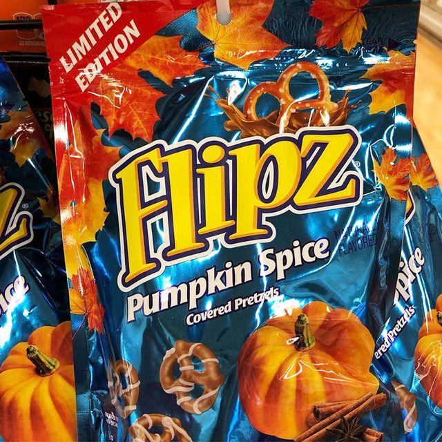 flipz pumpkin spice covered pretzels