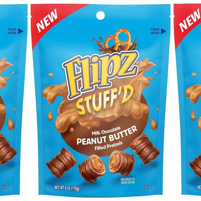 flipz stuff'd milk chocolate peanut butter filled pretzels