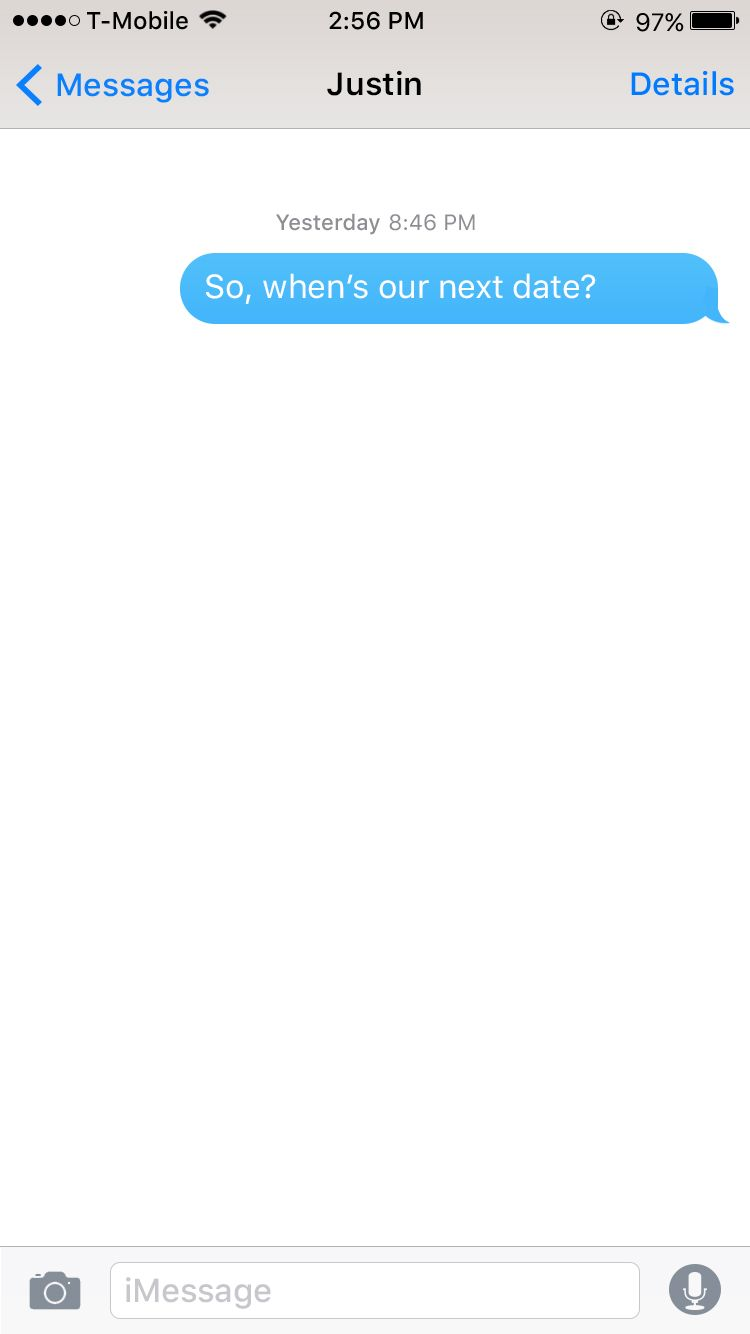 Text messages while dating