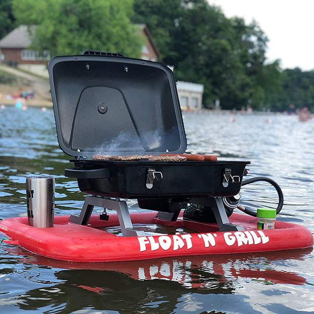 float 'n' grill floating propane bbq