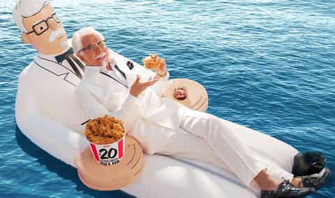 Christmas Themed Pool Floats.Kfc Is Giving Away The Craziest Colonel Sanders Pool Floats