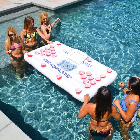 outdoor games for adults - floating beer pong