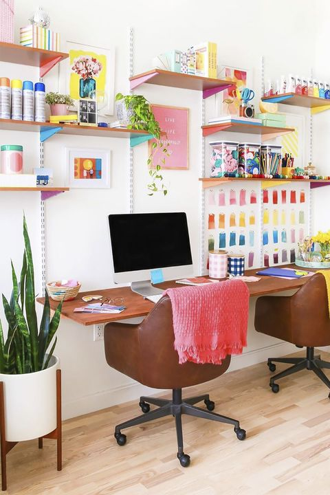 floating desk organization