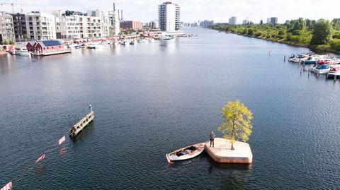 ¿Por qué hay una isla flotante de madera en Copenhague?