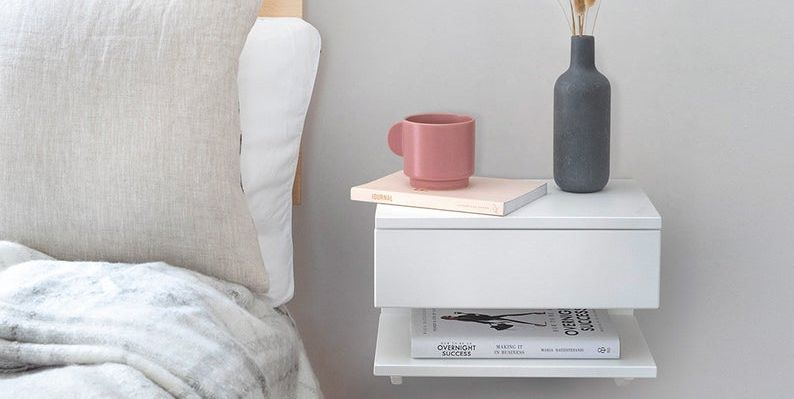 DIY Floating Nightstands That'll Upgrade Your Bedroom in a Snap
