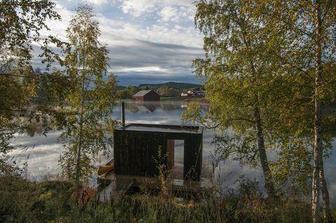 Stilleben sauna, Åmot, Svezia
