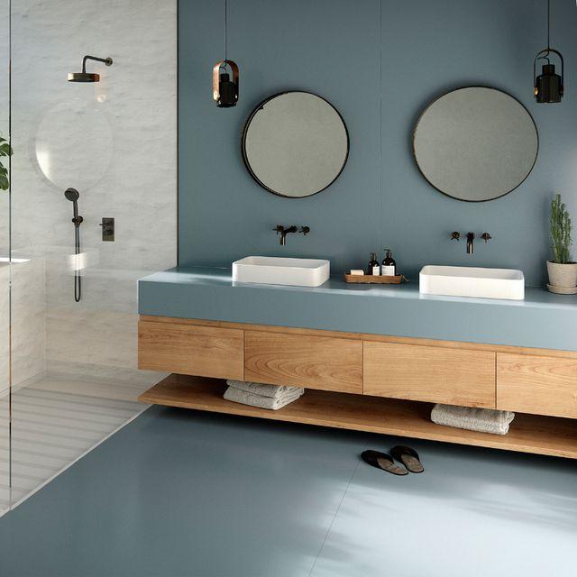 cosentino silestone bathroom countertop and floor