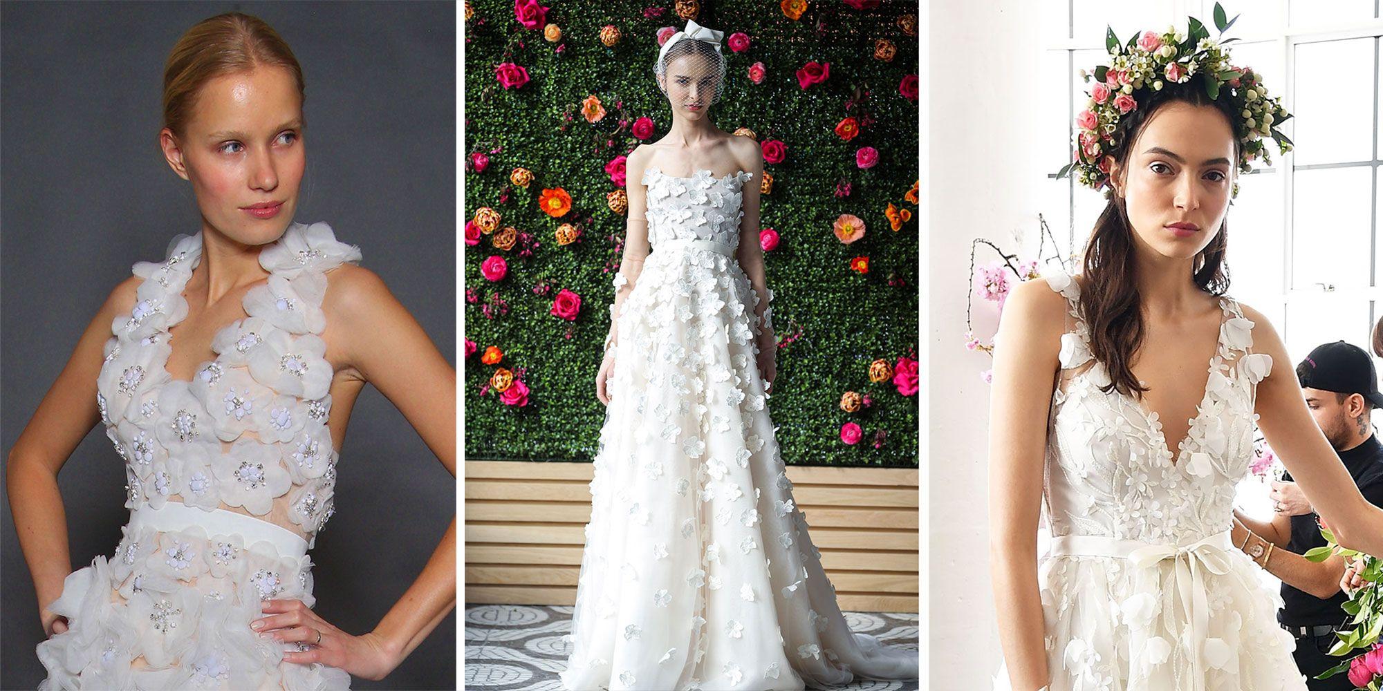 The prettiest floral wedding dresses from Bridal Fashion Week