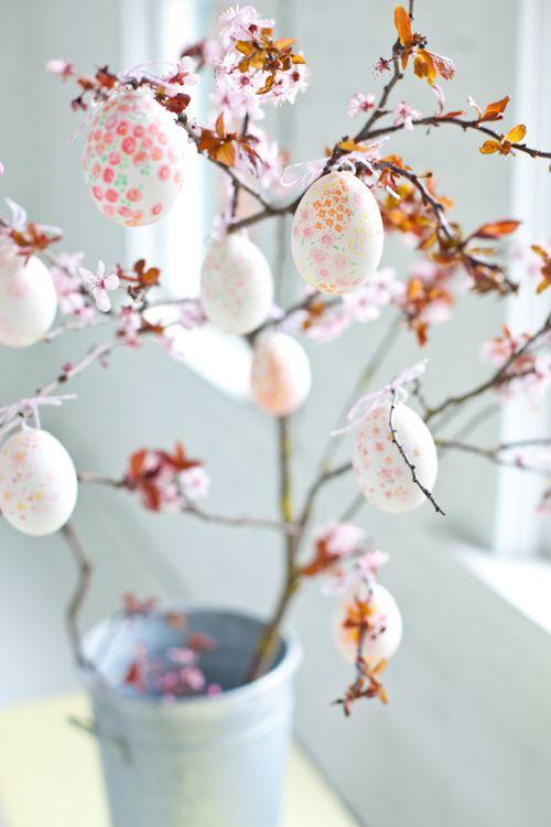 diy floral easter tree