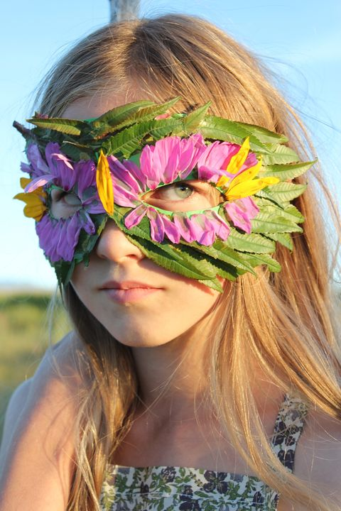 floral leaf nature halloween mask