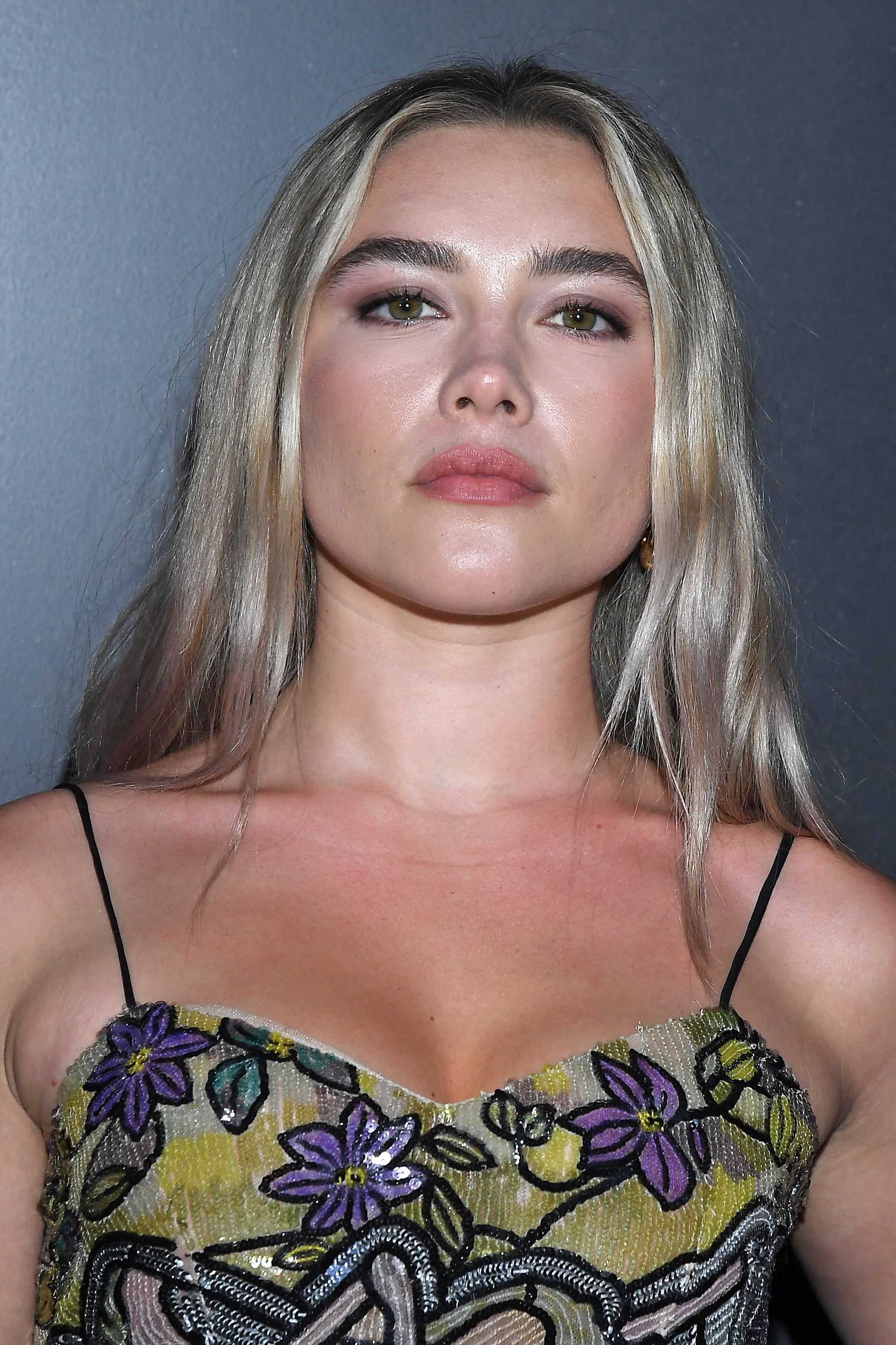 Florence Pugh got a Y2K makeover with blue dip dye hair