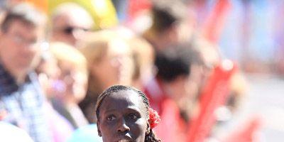 Florence Kiplagat at 2013 London Marathon