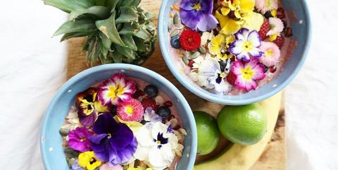 Flower, Food, Dish, Plant, Cuisine, Petal, Ingredient, Herbaceous plant, Superfood, Violet family,