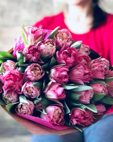 ramo de tulipanes dobles