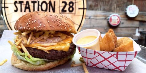 Dish, Food, Cuisine, Junk food, Hamburger, Fast food, Buffalo burger, Ingredient, Slider, Burger king premium burgers,