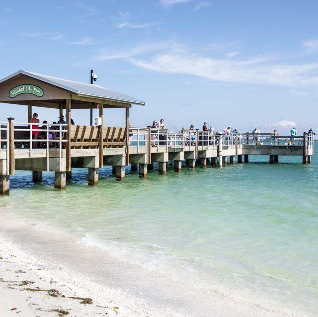 florida, sanibel island, city pier