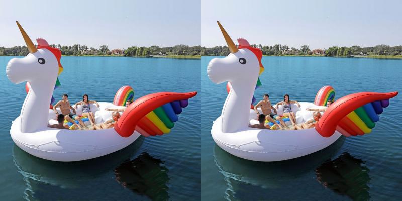 Flotador unicornio gigante