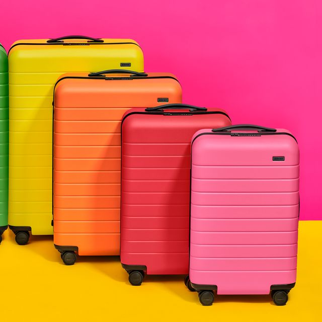 Suitcase, Magenta, Hand luggage, Baggage, Luggage and bags, Material property,