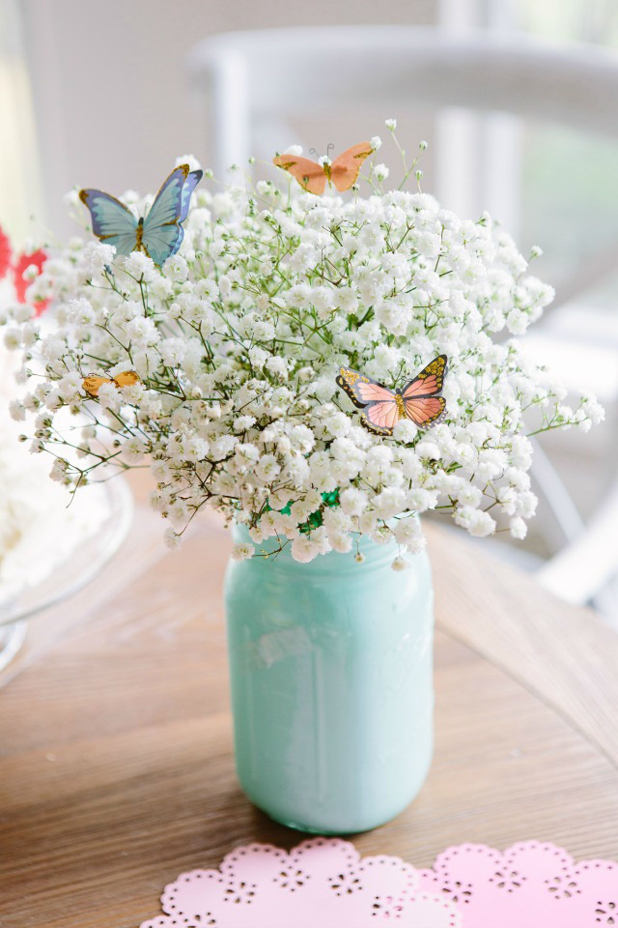 flower arrangements butterflies