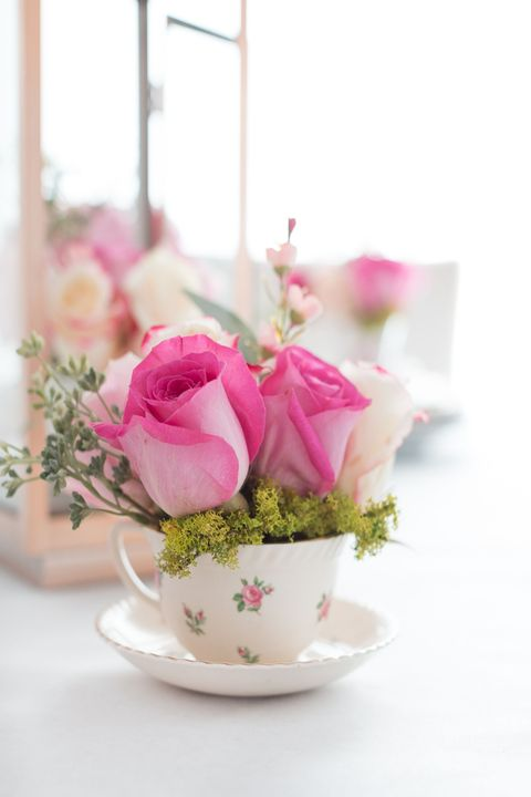 flower arrangements teacup