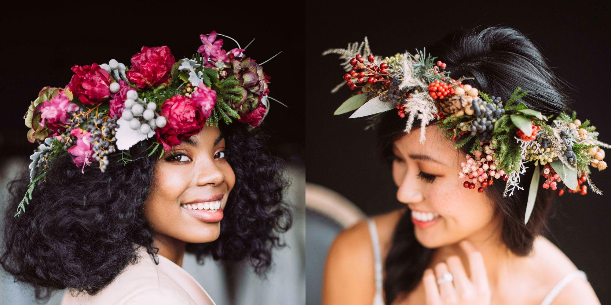 Flower Crown Wedding 15 Flower Crowns For Boho Brides