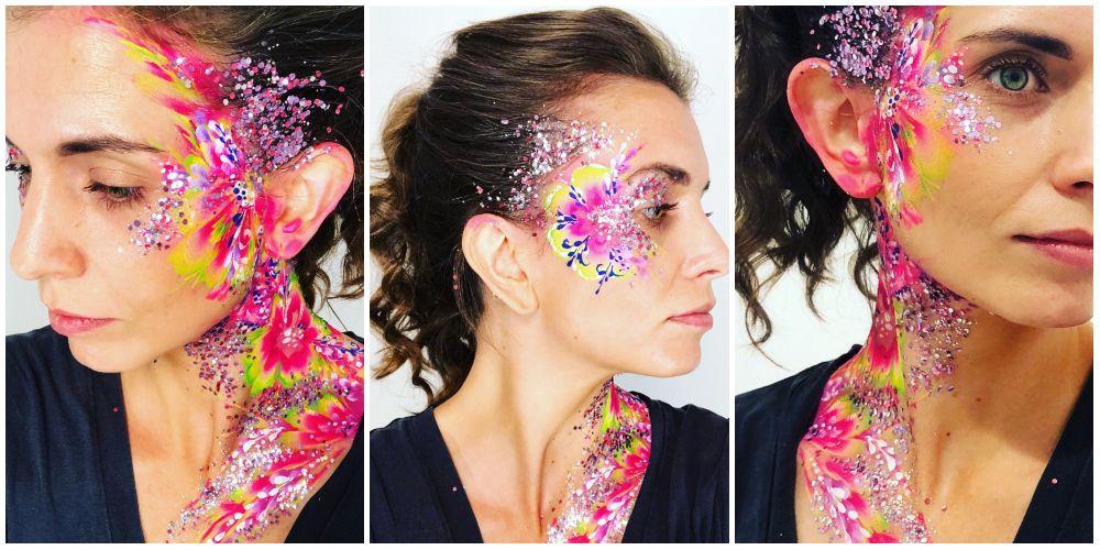 How To Recreate Floral Festival Facepaint Design – Festival Body Art Ideas