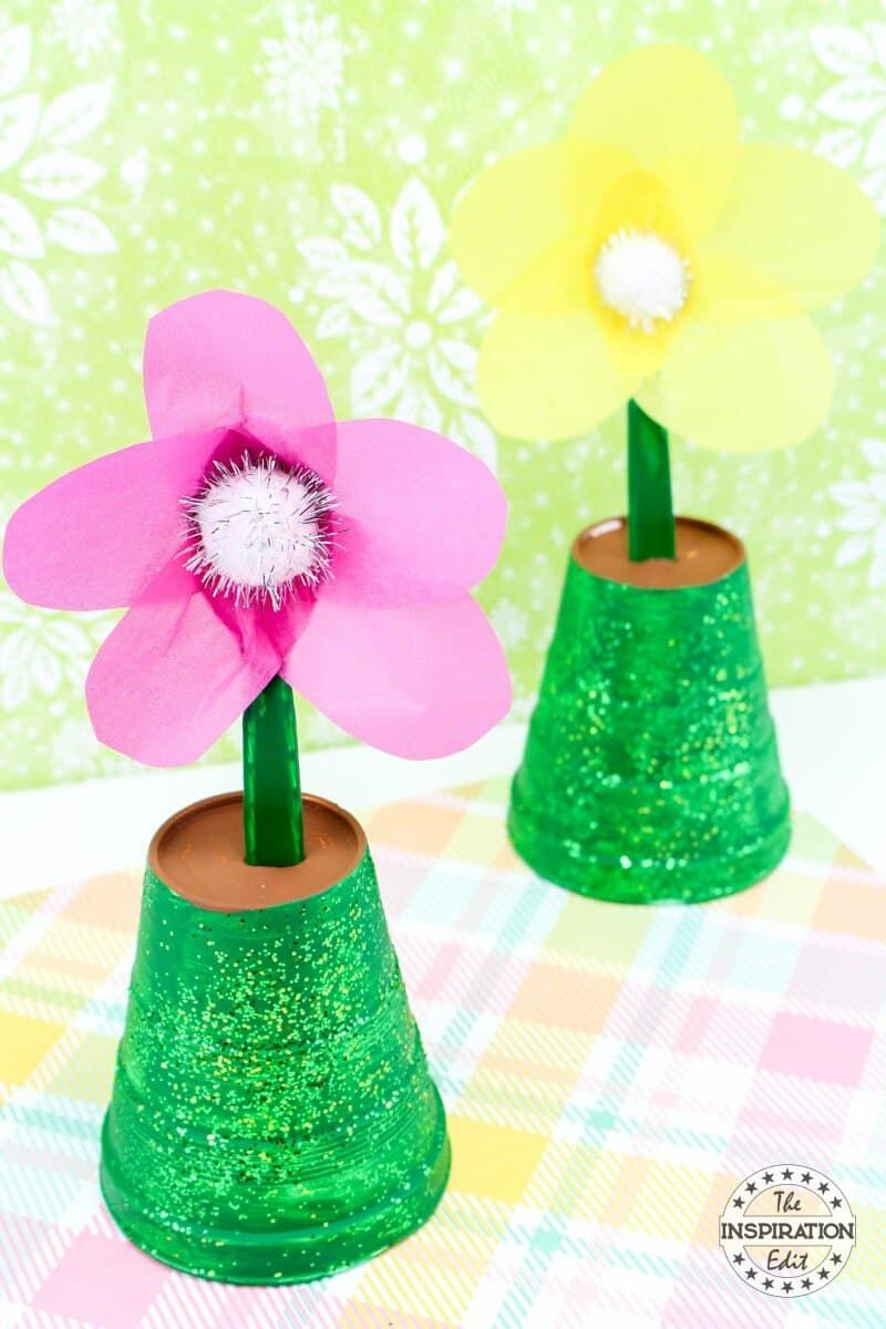 flower pot mothers day craft from kids
