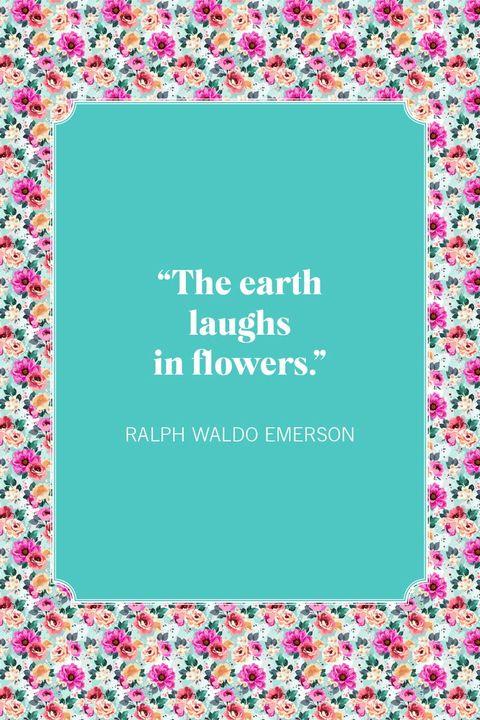 flower quotes ralph waldo emerson