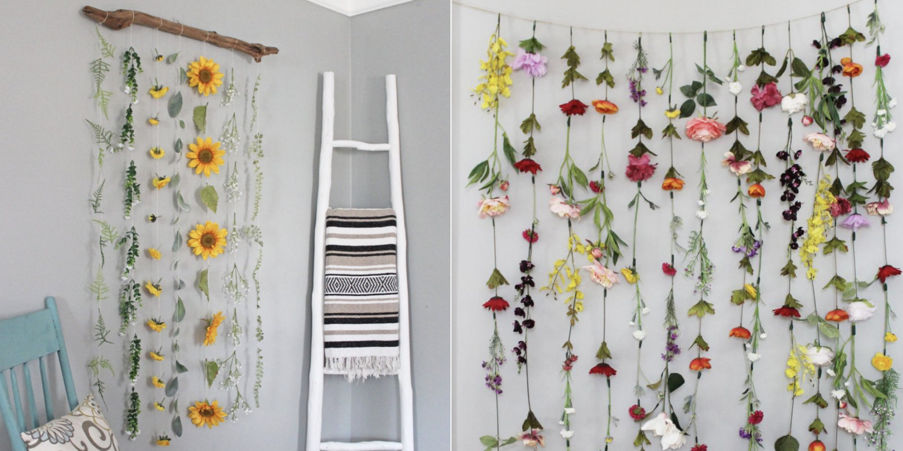 Flower Wall Garlands Are Trending On Pinterest And You Can Diy Your Own