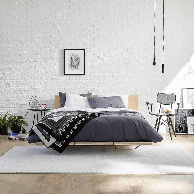 brooklinen floyd bed frame in apartment