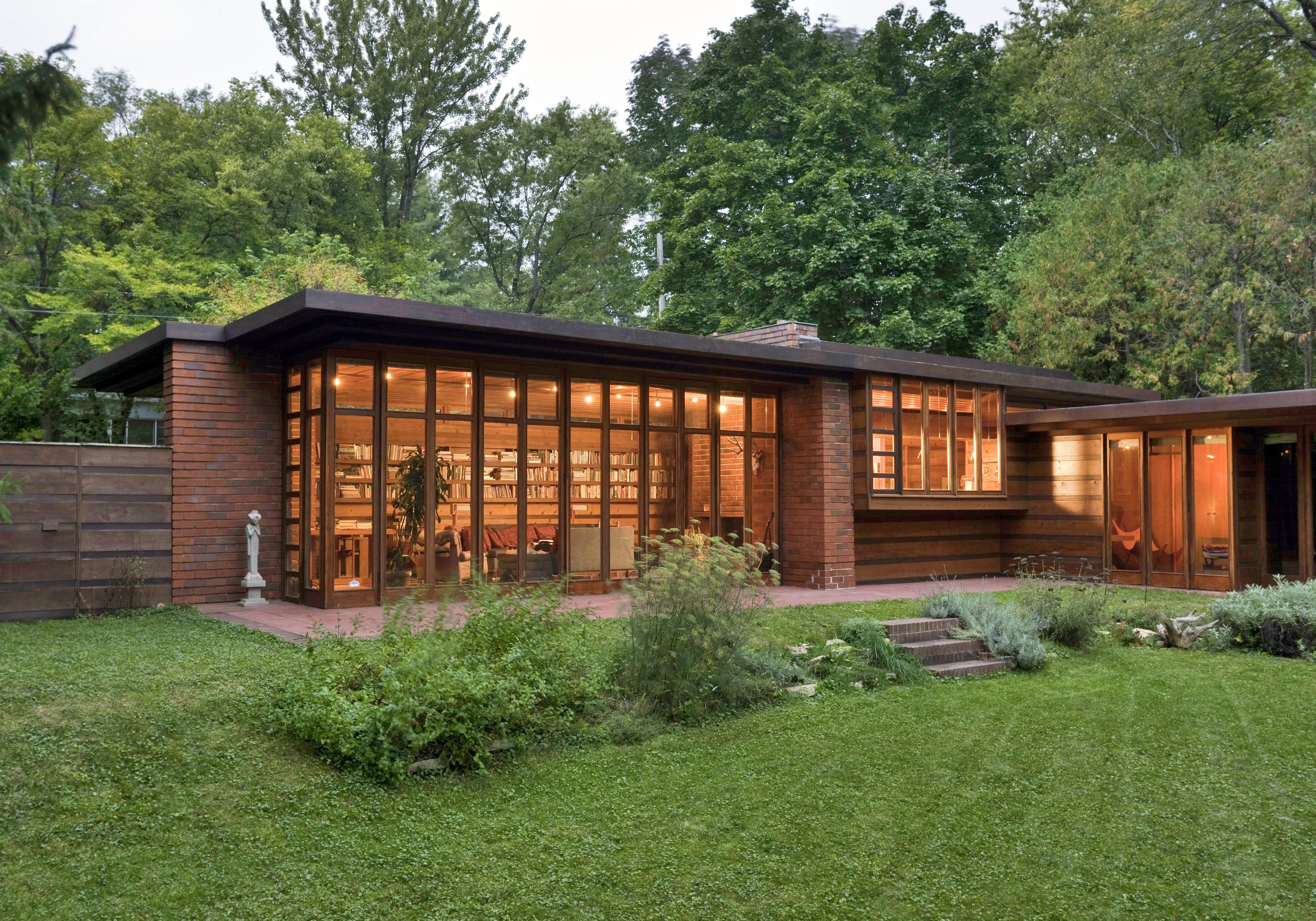 Herbert e Katherine Jacobs House (costruita nel 1936-1937, Madison, Wisconsin)