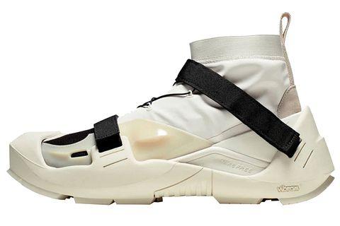 Footwear, White, Shoe, Cleat, Beige, Athletic shoe,