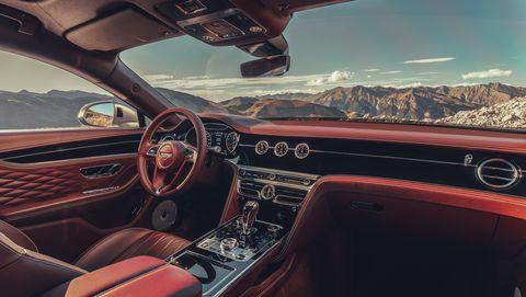 2020 Bentley Flying Spur interior dashboard view