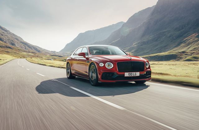the bentley flying spur equipped with a v8