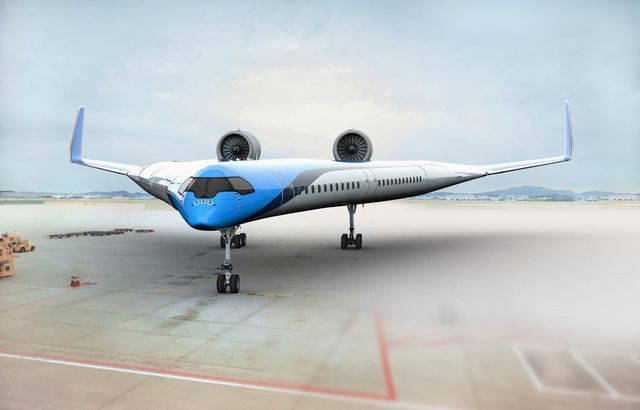 On This V-Shaped Airliner, Passengers Sit In the Wings