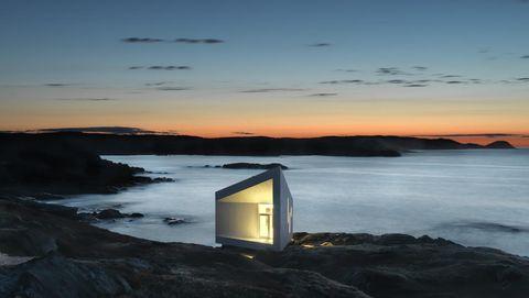 Alojamiento de diseñoen una isla conIceberg en Canadá.