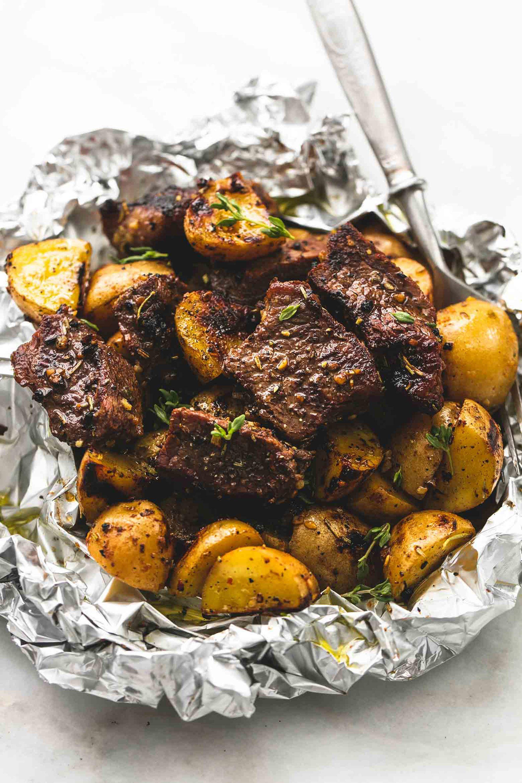 foil pack recipes garlic steak