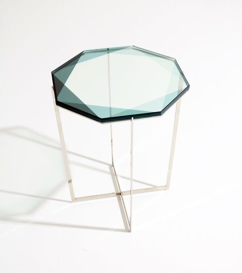 Coffee table, Furniture, Table, Product, Turquoise, Glass, End table, Chair,